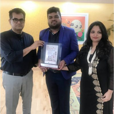 Felicitation to Ar. Surbhi from Amitabh Kant,  CEO, NITI Ayog, GOI, 2019